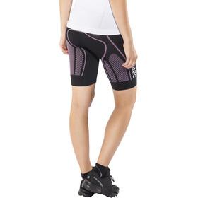 X-Bionic The Trick Running Pants Short Damen black/pink